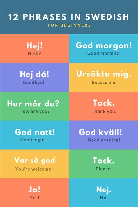 12 Starter Phrases in #Swedish for beginners | Useful ...