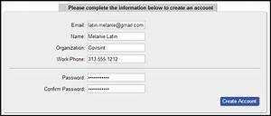 Creating a User ID and Password