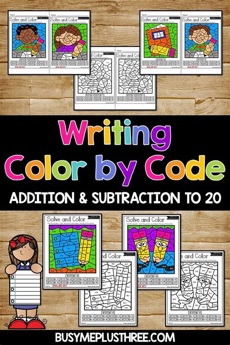 color  code writing color  number addition