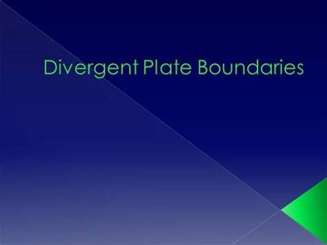 divergent plate boundaries authorstream