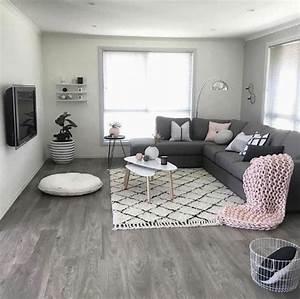 Deco Salon Moderne : 1001 id es d co originales pour le salon rose et gris ~ Teatrodelosmanantiales.com Idées de Décoration