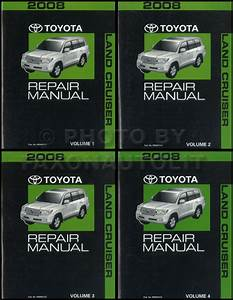 2008 Toyota Land Cruiser Repair Manual 4 Vol Set Original