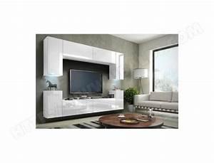 Meuble Tv Suspendu Led : meuble de salon meuble tv complet suspendu concept corps blanc mat fa ades laqu es ~ Melissatoandfro.com Idées de Décoration