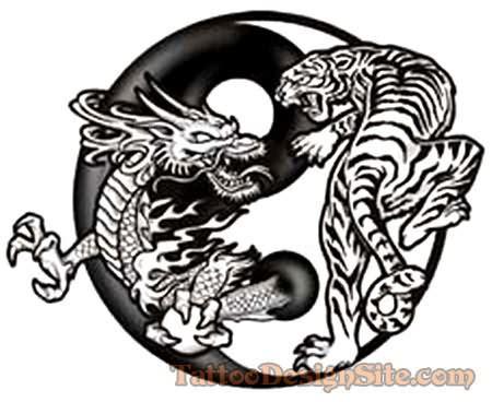Famous Dragon Tiger Tattoo Design  Martial Arts Tat Ideas