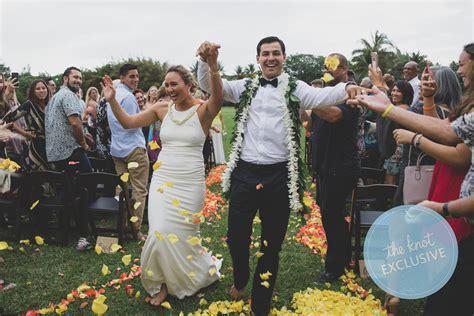 carissa moore marries luke untermann  oahu wedding