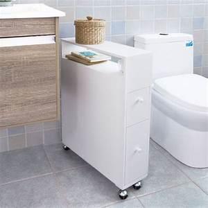 sobuy frg51 w meuble de rangement a roulettes wc porte With porte d entrée pvc avec plan de travail ikea pour salle de bain