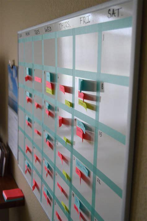 create   washi tape whiteboard calendar