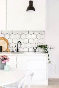 Hexagon Tile Kitchen Backsplash 36 Eye Catchy Hexagon Tile Ideas For Kitchens Digsdigs