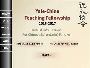 Yale-China Fellowship Chinese Virtual Information Session ...