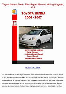Toyota Sienna 2004 2007 Repair Manual Wiring By Tinastack