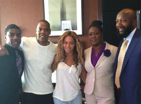 kirk jay parents jay z and beyonce rally for trayvon martin in new york