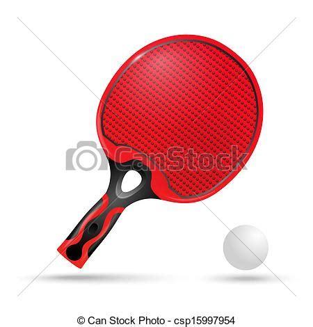 comment choisir sa raquette de ping pong vecteur clipart de raquette balle rouges ping pong rouges raquette pour csp15997954