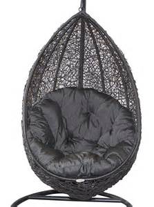Black Hanging Chair by Hanging Egg Chair Black Wicker Egg Chair Charcoal