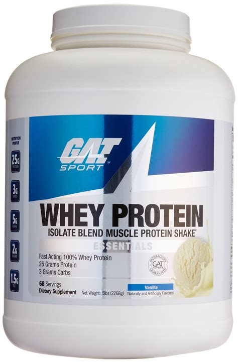 Amazon.com: GAT Whey Protein Isolate Blend, Chocolate, 5