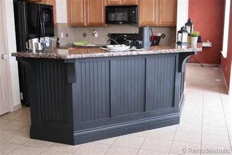 kitchen island makeover kitchen island makeover with corbels part two