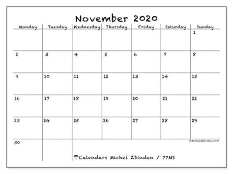 november  calendars ms michel zbinden en