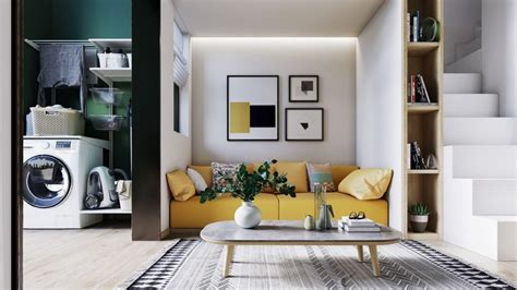 2 Bright Homes With Energetic Yellow Accents : Yellow Accents In Scandinavian Style Interiors