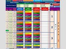 Workout Calendar Excel calendar template excel