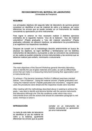 los materiales de laboratorio monografias resumen de  appco