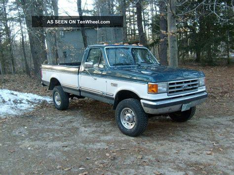 ford diesel 5 diesel 1988 ford f 350 xlt lariat standard cab 2