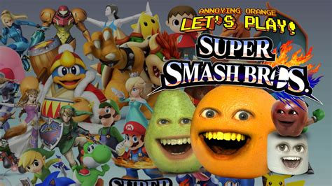 annoying orange lets play super smash bros wii  youtube