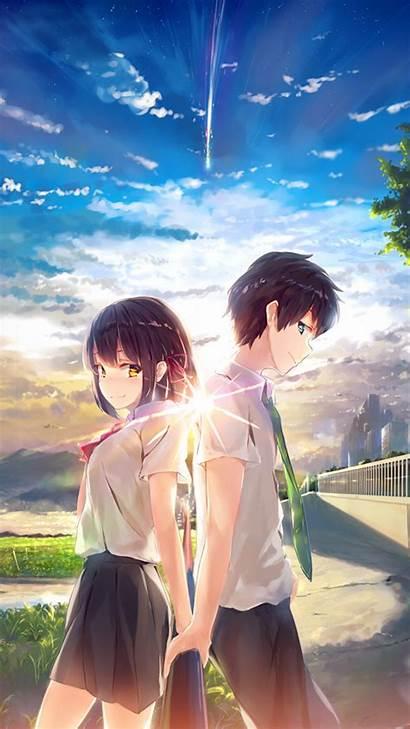 Anime Sky Illustration Yourname Iphone Plus Az03