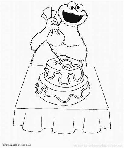 Coloring Pages Sesame Street Cookie Monster Printable