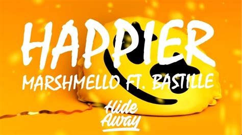 Marshmello Ft Bastille  Happier (lyrics) Youtube