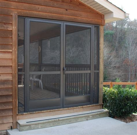pca custom french double screen doors  entrances