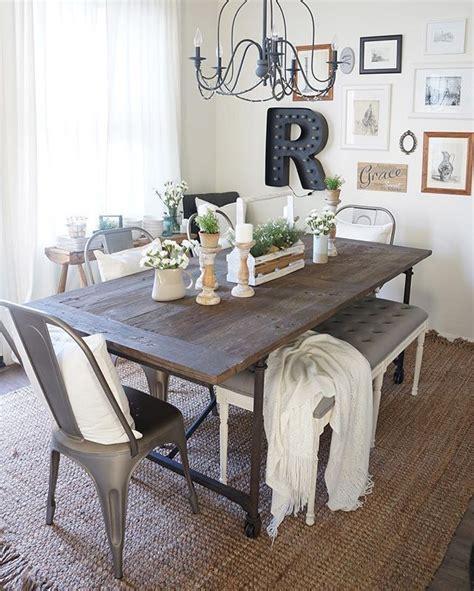 farmhouse kitchen table decor ideas best 25 table with bench ideas on farm table