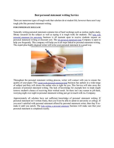 Statement of purpose editing service