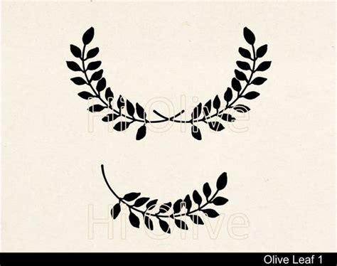 Svg Laurel Leaves Cutting File Clip Artblack Olive Leaf