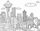 Needle Coloring Seattle Space Pages Sheet Template Illustrated Adults sketch template