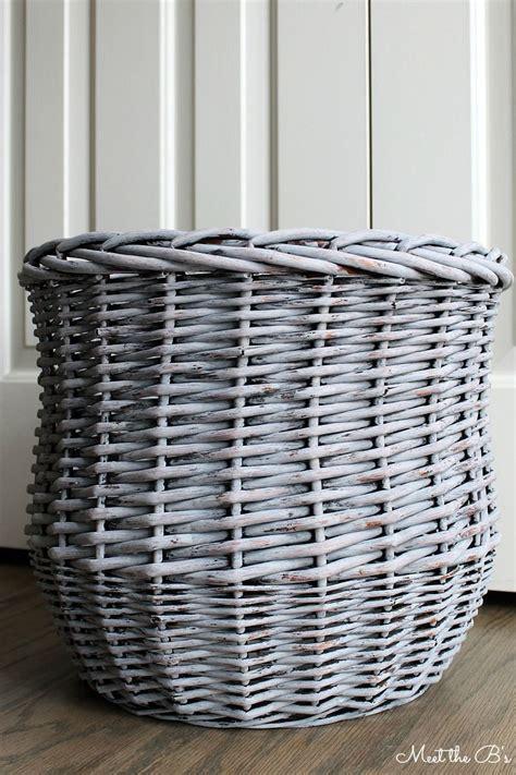 chalk painted basket monthly diy challenge baskets