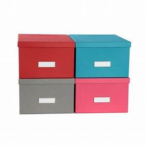 Boite Carton Rangement : bo te de rangement en carton rouge ~ Teatrodelosmanantiales.com Idées de Décoration