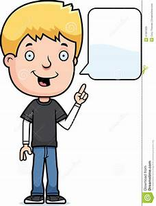 Talking Teen Boy stock vector. Illustration of cartoon ...