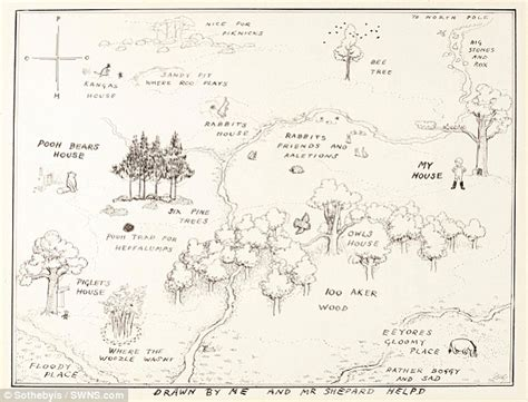 1926 Winnie-the-pooh's Hundred Acre Wood Sketch Gets £430k