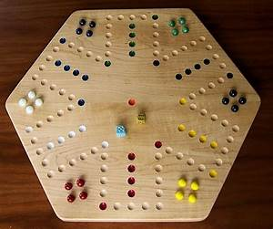 Rock maple hardwood aggravation board game for Aggravation board game template