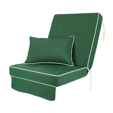 single luxury garden swing seat cushion