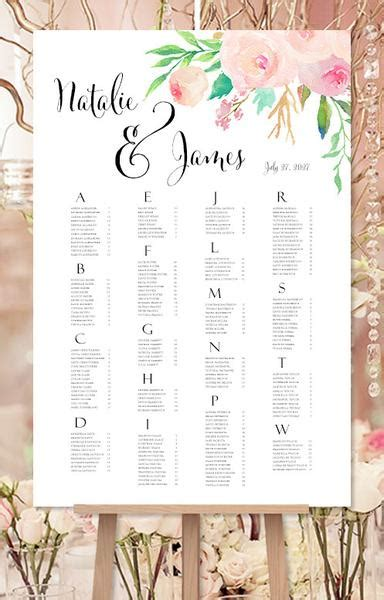 wedding seating chart poster template wedding seating chart poster reception table plan wedding template shop