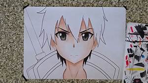 How To Draw Kirito From Sword Art Online