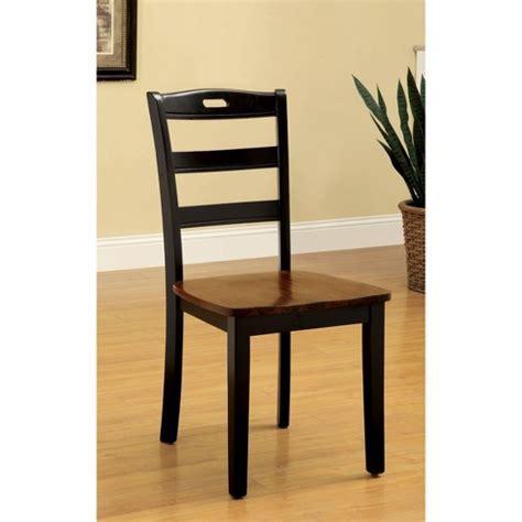 Sun & Pine Ladder Back Wooden Chair Wood/Antique Oak/Black
