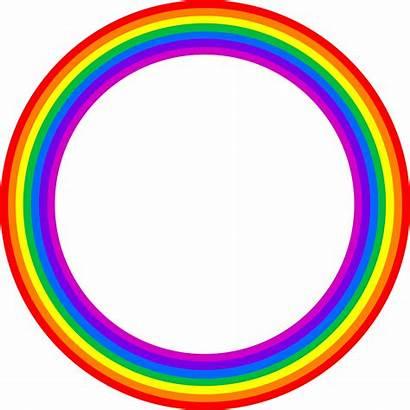Rainbow Border Transparent Clipart Marcos Bordes Circle