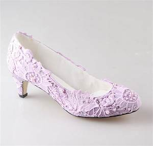 Handmade light purple lavender lace woman wedding party ...