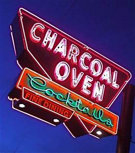 Charcoal Oven Vintage Neon Sign Picture of Charcoal Oven