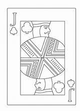 Poker Coloring Jack Template sketch template