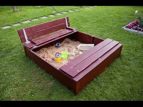 sandkasten selber bauen sandkasten bauen