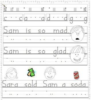 printing instruction st   handwriting
