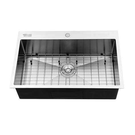 kitchen sink st sets single basin stainless steel top mount kitchen sink tray