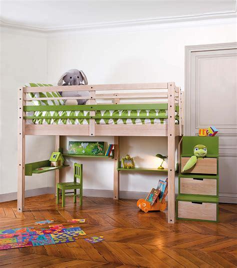 bureau lit mezzanine lits mezzanines modulable